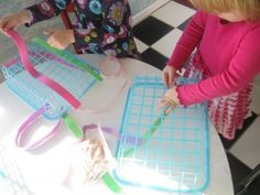 great for fine-motor skills!  Baskets from $1 Store.