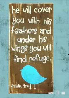 He will cover you with his feathers, and under his wings you will find refuge; his faithfulness will be your shield and rampart. Psalm 91:4 NIV