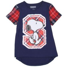 541eb8d7a8 Peanuts by Charles Schulz Peanuts Snoopy Hi-Low Flannel Tee - Girls