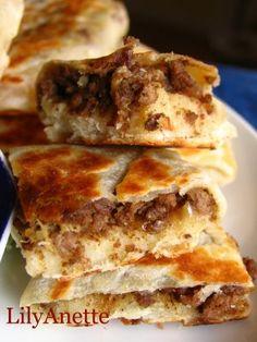 Murtabak (Stuffed Meat Pancake)
