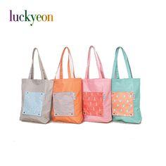 Cartoon Animal Nylon Shopping Bag Foldable Reusable Tote Storage Bag Women Large Should Bag Waterproof Grocery Bags