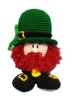 St Patrick's Day. leprechaun. irish. amigurumi crochet