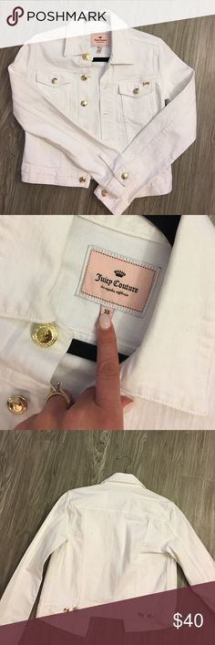 Brand new juicy couture white denim jacket With gold buttons Juicy Couture Jackets & Coats Jean Jackets