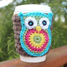 crochet travel coffee mug