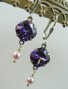 New Amethyst/Purple Simulated Cubic Zirconia by HisJewelsCreations