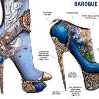 Nick Adelman Baroque Art Learn Art History Through 10 Stunning Pairs Of High Fashion Heels Fashion History, Fashion Art, High Fashion, Fashion Design, Paper Fashion, Trendy Fashion, Fashion Trends, Baroque Art, Baroque Design