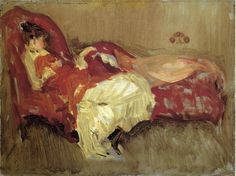 James Abbott McNeill Whistler (1834-1903) Note in Red: The Siesta Oil on canvas 1873-1875 51.4 x 31.1 cm (20.24 x 12.24)