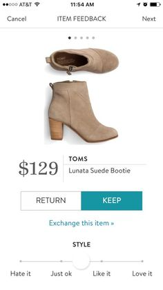 I have a very similar Toms bootie in the same color.