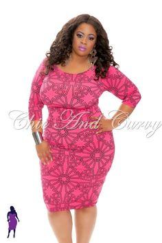 New Plus Size 2 Piece Crop Top and Dress Set in Fuchsia Pink  http://www.chicandcurvy.com/tops/product/9441-new-plus-size-2-piece-crop-top-and-dress-set-in-fuschia-pink-1x-2x-3x  Model: Janna Plus Model Hair: Tiffany Brooks MUA: Michelle Robinson Photographer Smash Photo Studio