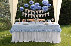 Birthday Sweet Corner in Blue