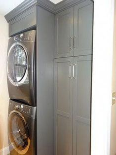 Laundry Room Design Ideas - the Dream Your Inspiration. A laundry just needs to be functional, well-equipped, and well-organized. Here are some incredible small laundry room ideas and designs. Stackable Laundry, Room Renovation, Washer Dryer Laundry Room, Room Storage Diy, Laundry Dryer, Laundry, Laundry Room Renovation, Pantry Laundry Room, Room Makeover