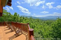 View from the Lodge at Whippoorwill, a cabin on 5 acres with a great aspect. Smoky Mountain Cabin Rentals, Smoky Mountains Cabins, Great Smoky Mountains, Smoky Mountains Attractions, Gatlinburg Cabins, Garden Bridge, Acre, National Parks, Outdoor Structures