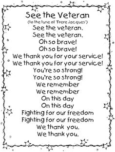 First Grade Wow: Veterans Day mini unit Patriotic Veterans Day Speeches, Veterans Day Poem, Veterans Day Thank You, Veterans Day Activities, Holiday Activities, Literacy Activities, Therapy Activities, Therapy Ideas, Toddler Activities