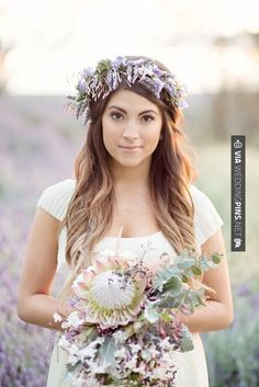 Inspiration for high school sweethearts turned married couple, Emily + Michael. This photo inspiration was to reflect the lavender crown Emily would be wearing.
