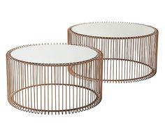 Couchtisch Set Wire 2 Tlg Kupferfarben