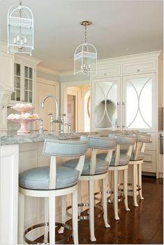 Morgan harrison home cool kitchens home decor house design modern white kitchen bar stools kitchen island . House Of Turquoise, Beautiful Kitchens, Cool Kitchens, Cream Kitchens, White Kitchens, White Kitchen Cabinets, Modern Cabinets, Home Decor Kitchen, Kitchen Ideas