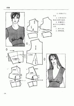 Chinese method of pattern making- Darts on a bodice - Svet Lana - Picasa Web Albums