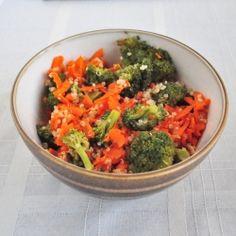 Carrot Ginger Detox Salad recipe.Vegan and gluten free.