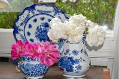 blue and white tea in the garden | collect blue and white china and love shopping for special pieces at ...