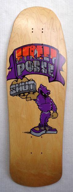 Vintage original Shut Skateboard deck Zoo York Supreme natural #ZooYork