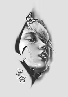 арт inspirierende zeichnung, totenkopf tattoos и zeichnungen. Rose Drawing Tattoo, Tattoo Sketches, Tattoo Drawings, Maori Tattoos, Body Art Tattoos, Portrait Tattoos, Samoan Tattoo, Polynesian Tattoos, Girl Face Tattoo