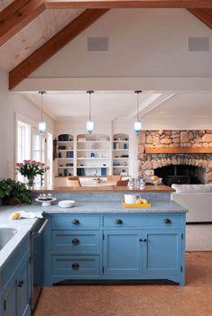 Pintar muebles de cocina. Antes y después, fotos y consejos | Mil Ideas de Decoración http://www.milideas.net/pintar-muebles-cocina #cocina #diy