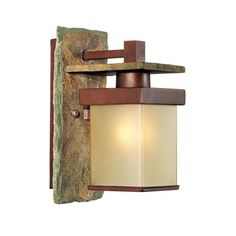 "Slate Stone Collection 11"" High Indoor/Outdoor Wall Sconce-- Arts & Crafts meets Pearl District"