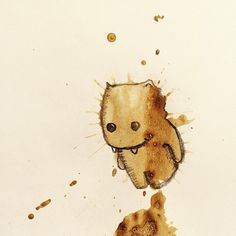 Illustrations of Adorable Little Monsters Created From Random Coffee Spills