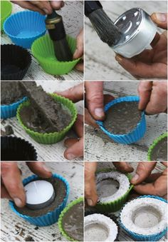 How to Make Concrete Tealight Holders
