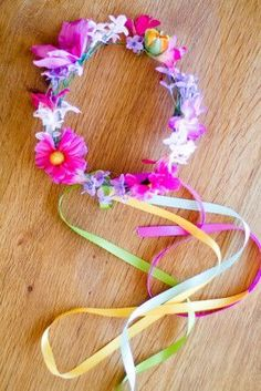 Maddy lets make a whole bunch of these for people to wear (maybe without the ribbons hanging)