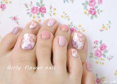 Pedicure Designs, Pedicure Nail Art, Toe Nail Designs, Manicure, Cute Toe Nails, Cute Nail Art, Summer Toe Nails, Spring Nails, May Nails