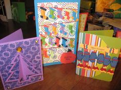 Christmas cards I made in 2012 (in some cases I cannot claim these ideas as original, though I'm not sure the sources)