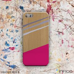INFIGO - Design hard case, cover with colorful stripes, wood shape geometric iPhone 5 case for Samsung S4 S3 and iPhone 5/4 and 5C  - T20060