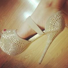 #goldshoes #heels #studs