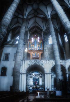"""the organ"" low key edit - old church view in salzburg, austria"