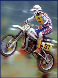Håkan Carlqvist - 1981 YZ465 Yamaha Yamaha Motocross, Motocross Riders, Yamaha Bikes, Yamaha Motor, Mx Bikes, Cool Bikes, Vintage Bikes, Vintage Motorcycles, Dirt Bike Racing