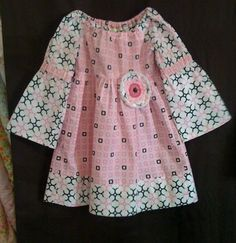 Girls #Peasant #Dress with  Raggy #Flower