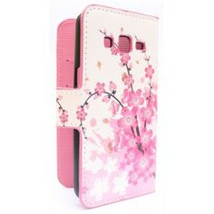 Galaxy Express 2 vaaleanpunainen kukka puhelinlompakko.