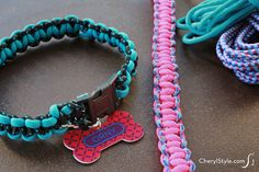 make your dog a super durable, braided dog collar out of paracord | CherylStyle.com