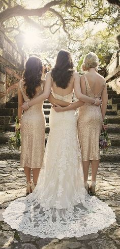 "Sorella Vita means ""sisters for life"" for a reason. Absolute love their wedding dresses!"