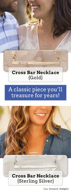 Cross Bar Necklaces, Personalized Necklaces with meaning by Lisa Leonard Necklaces With Meaning, Gold Bar Necklace, Personalized Necklace, Stamped Jewelry, Things To Buy, What To Wear, Style Me, Stability, Jewelry Accessories