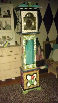 Hand Painted Grandfather clock - wonder if I could get away with it.
