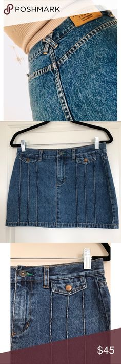 Tommy Hilfiger Vintage Denim Mini Skirt M Tommy Hilfiger Vintage Tommy Jeans Denim Mini Skirt M Pre-owned - great condition. No holes or stains.  Fabrication: 100% Cotton.  Size: 7- fits like a medium. Use measurements for best fit! Measurements: Waist flat across is approximately 15 inches  Top of waist to bottom of hem is approximately 13 inches Tommy Hilfiger Skirts Mini