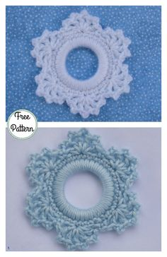 crochet flowers ideas Christmas Ring Ornament Free Crochet Pattern - This is the perfect Beginner Christmas Ring Ornament Free Crochet Pattern for those just learning to crochet for the holidays.Pineapple Stitch Sidewalk Shawl Free Crochet Pattern an Crochet Christmas Wreath, Crochet Wreath, Crochet Christmas Decorations, Crochet Ornaments, Crochet Decoration, Christmas Ring, Holiday Crochet, Crochet Crafts, Crochet Flowers