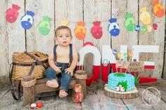O-fish-ally One Cake Smash 1st Birthday Boy Themes, First Birthday Pictures, Boy First Birthday, Boy Birthday Parties, Birthday Photos, Birthday Ideas, Birthday Gifts, O Fish Ally, 1st Birthdays