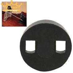 Black Round Rubber Acoustic Cello Mute Silencer Cello Parts Accessories #Affiliate