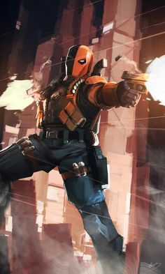 "detective-comics: """"DC Heroes and Villains by Lap Pun Cheung "" "" Marvel Comics, Hq Marvel, Dc Comics Superheroes, Dc Comics Characters, Dc Comics Art, Dc Deathstroke, Deathstroke The Terminator, Deathstroke Cosplay, Marvel Universe"