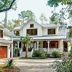 """A traditional """"Dogtrot"""" floor plan for a new home, which was designed to keep things cool on hot South Carolina afternoons."""