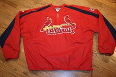 St. Louis Cardinal Baseball Dugout Jacket Pullover Men 2XL, by Majestic/sewn/New #Majestic #StLouisCardinals