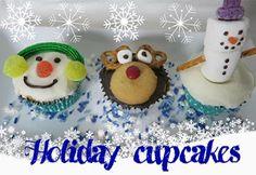 Holiday   DIY Snowman and Reindeer Cupcakes - Sharron's Take